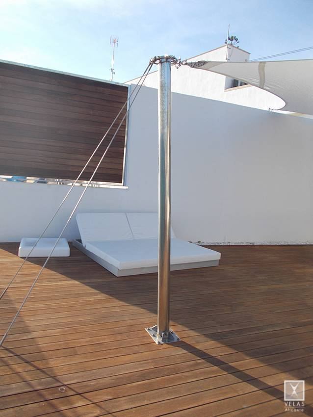 Tensed Shade Sail in Campello