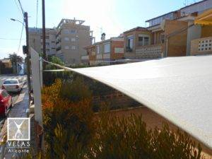 Tensioned Shade sail in Campello