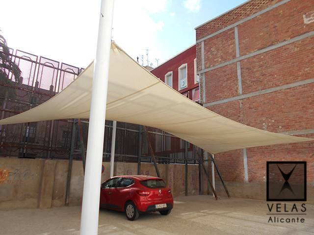 Shade Sail in Orihuela for parking