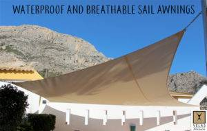 Waterproof and breathable sail awnings for maximum comfort
