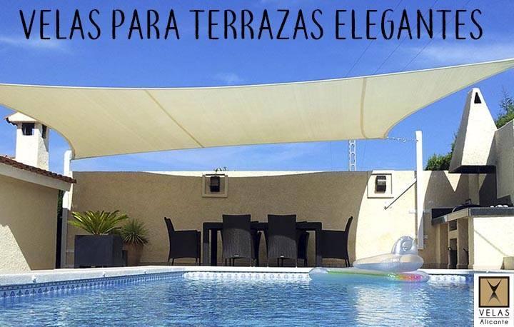 Elegant shade sails for terraces ans patios