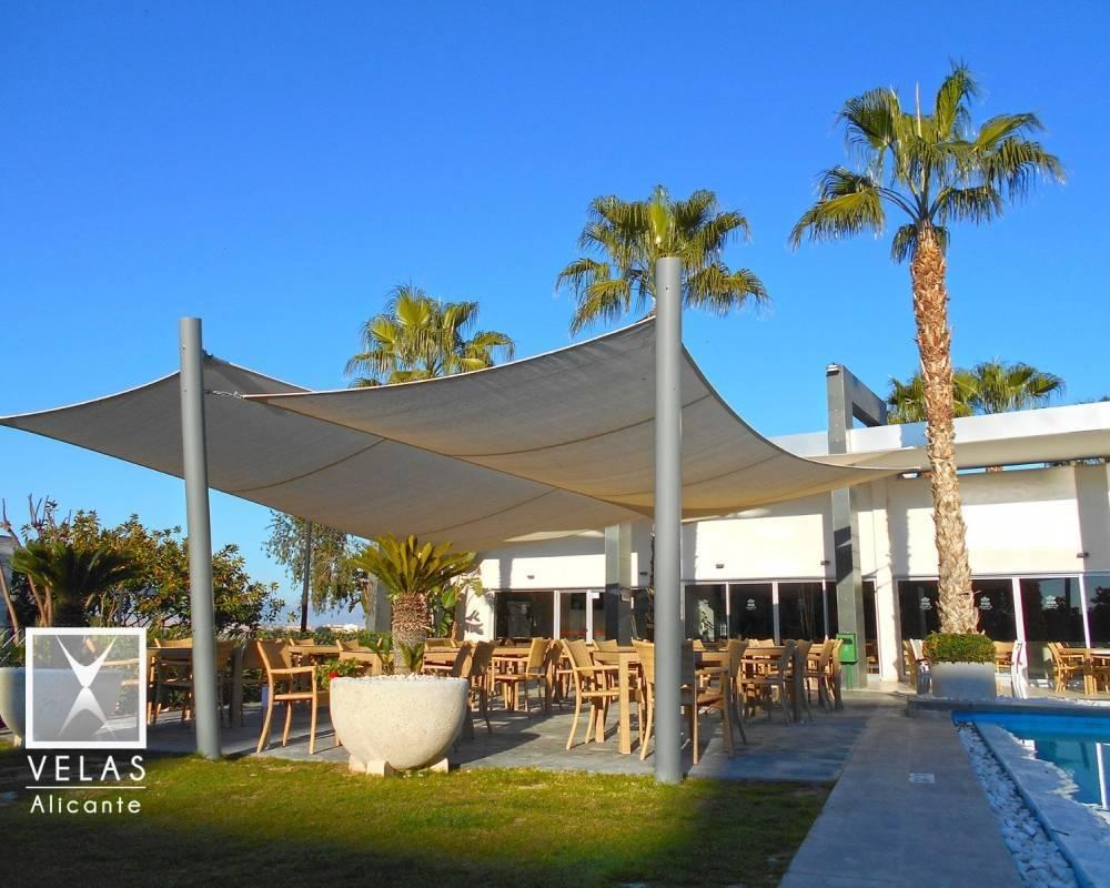 Shade sail in Plantio Golf Resort