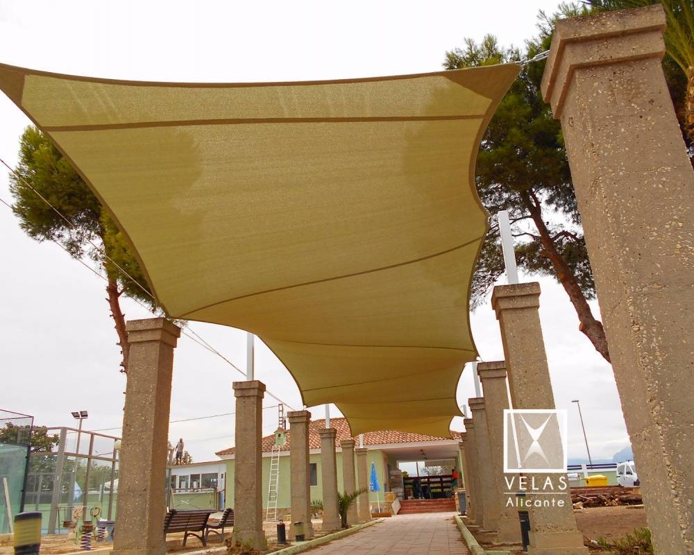 Shade sail system 12 anchorages