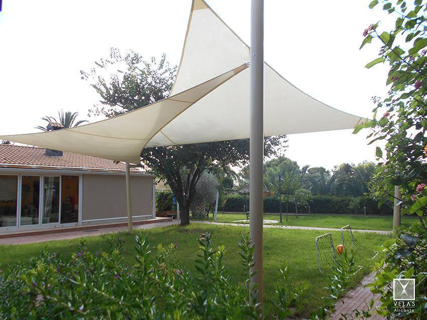 Installation of Tense Shade Sail in Altea